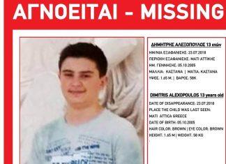 Νεκρός ο 13χρονος Δημήτρης