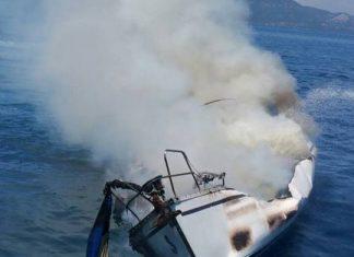 Λευκάδα: Φωτιά σε ιστιοπλοϊκό