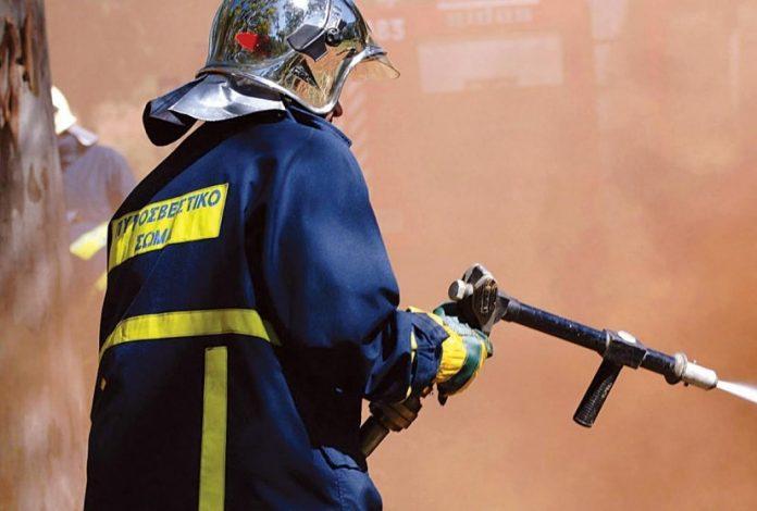 Ένας πυροσβέστης τραυματίας