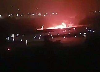Σκηνικό τρόμου στο Σότσι από φλεγόμενο Boeing με 167 επιβάτες