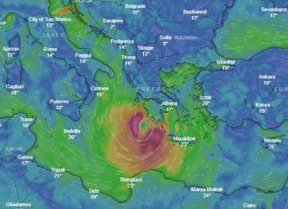 """Κυκλώνας """"Ζορμπάς"""": Αναμένονται ισχυρές καταιγίδες τις επόμενες ώρες"""