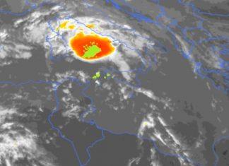 Η πορεία του κυκλώνα όπως καταγράφτηκε σε βίντεο του Αστεροσκοπείου