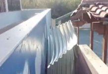Καματερό: Αποκολλήθηκε η στέγη του 2ου Δημοτικού Σχολείου λόγω των ισχυρών ανέμων