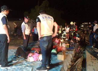 ΤΑΪΒΑΝ: Τουλάχιστον 17 νεκροί από εκτροχιασμό τρένου