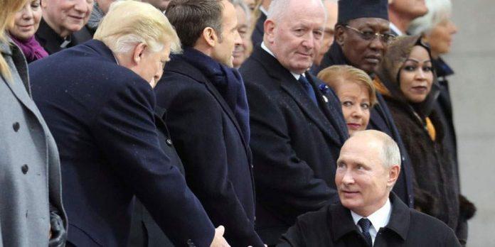 100 χρόνια από το τέλος του Α' Παγκοσμίου Πολέμου: Η χειραψία Πούτιν-Τραμπ