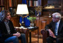 Στο Προεδρικό Μέγαρο ο Στέφανος Τσιτσιπάς