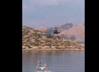 Οι εντυπωσιακοί ελιγμοί από τον πιλότο που μετέφερε τον Καμμένο στη Σύμη