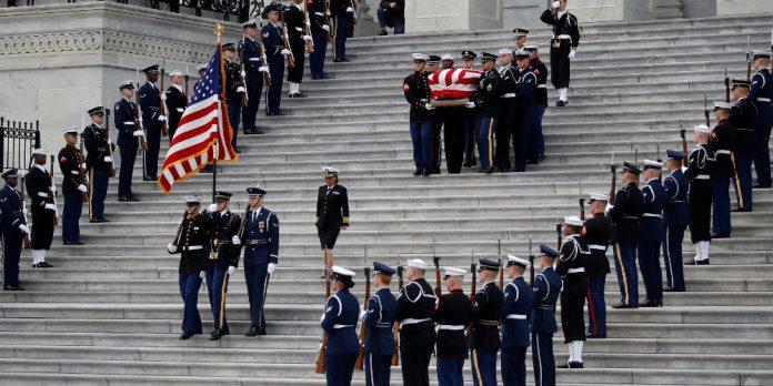 Κηδεύτηκε ο πρώην πρόεδρος των ΗΠΑ Τζορτζ Χέρμπερτ Ουόκερ Μπους