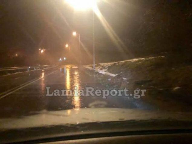 Φθιώτιδα: Προσοχή -Πλημμύρισε η εθνική οδός Λαμίας – Καρπενησίου
