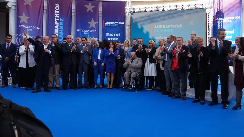 ΑΝΕΛ: Ο Πάνος Καμμένος παρουσίασε τους υποψήφιους ευρωβουλευτές