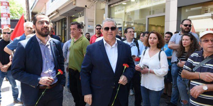 Κουτσούμπας: Στο Περιστέρι με υποψήφιους ευρωβουλευτές και ανθρώπους του Πολιτισμού