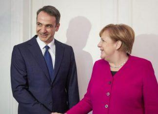 Στη Γερμανία ο Μητσοτάκης - Συνάντηση με Μέρκελ