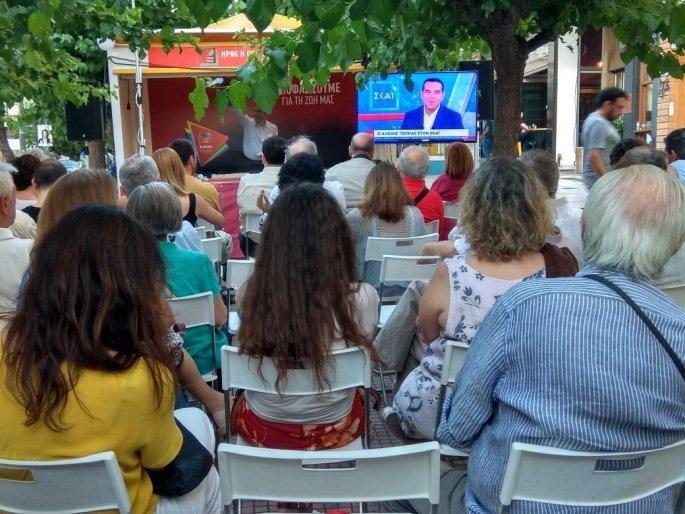 Ο ΣΥΡΙΖΑ Παγκρατίου με τον Φίλη έβλεπαν την συνέντευξη Τσίπρα σαν τον τελικό του Μουντιάλ