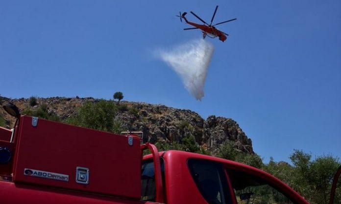 Σπάρτη: Πυρκαγιά στην περιοχή Άγιος Κυπριανός