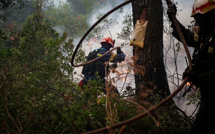 Συνεχίζεται για τρίτη ημέρα η υπεράνθρωπη προσπάθεια εναέριων και επίγειων μέσων για την κατάσβεση της μεγάλης φωτιάς στην Εύβοια.