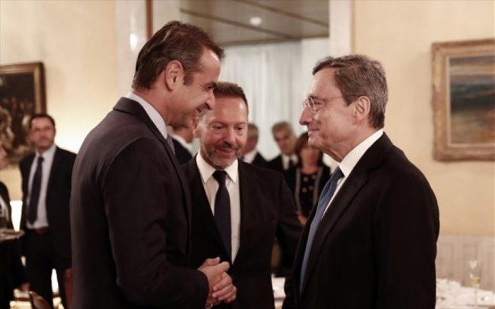 Μητσοτάκης - Ντράγκι συζήτησαν για ελληνική οικονομία, κόκκινα δάνεια και QE