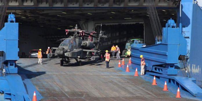 Βόλος: Έφτασαν τα ελικόπτερα του αμερικανικού στρατού