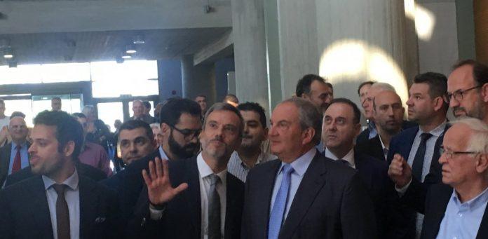 Επίσκεψη Καραμανλή στο δημαρχείο Θεσσαλονίκης