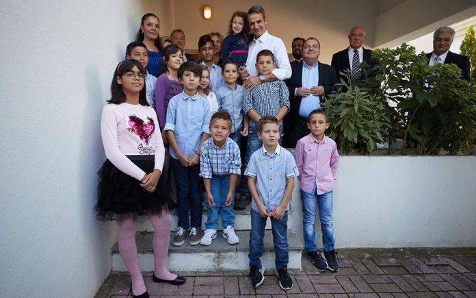 Το Παιδικό Χωριό SOS στο Πλαγιάρι επισκέφθηκε ο Κυρ. Μητσοτάκης
