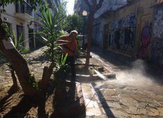 Δράσεις του Δήμου Αθηναίων στον πεζόδρομο της Σαλαμίνος στο Μεταξουργείο
