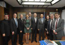 Συνάντηση Θεοδωρικάκου με την Παγκόσμια Διακοινοβουλευτική Ένωση Ελληνισμού