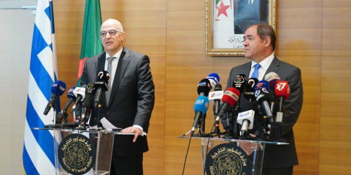 Δένδιας: «Κοινό μέτωπο Ελλάδας – Αλγερίας ενάντια σε κάθε είδους ξένη εμπλοκή στη Λιβύη»