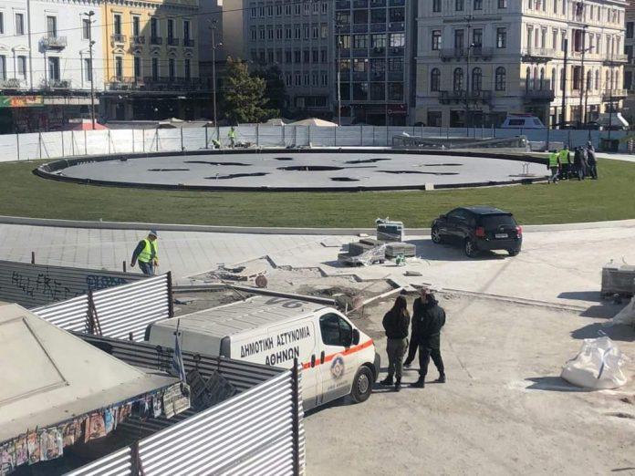Στην τελική ευθεία οι εργασίες στην πλατεία Ομονοίας