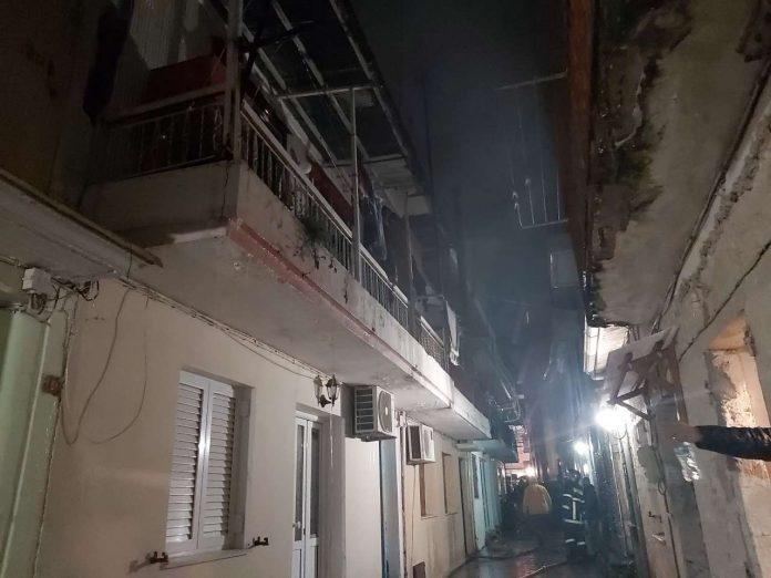Λευκάδα: Φωτιά στο κέντρο της πόλης