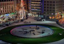 Μπακογιάννης: Χαρούμενος στην τοποθεσία… νέα πλατεία Ομονοίας!