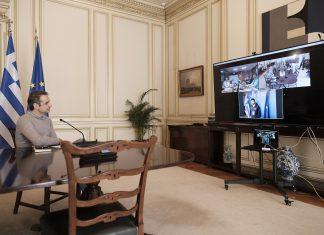 """Ο πρωθυπουργός """"ξεναγήθηκε"""" μέσω τηλεδιάσκεψης στην Πολιτική Προστασία"""