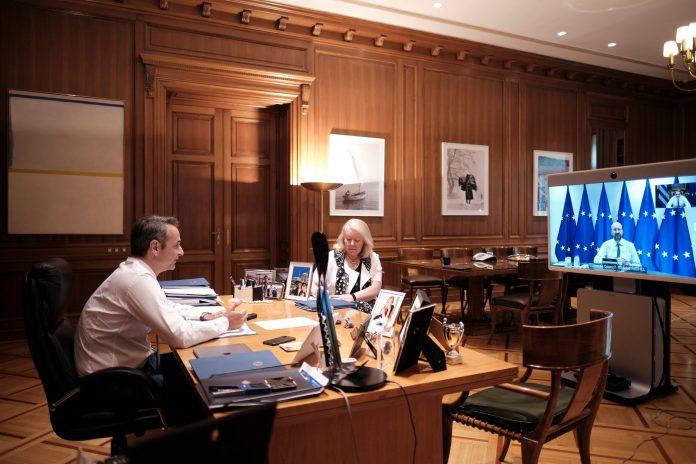 Μητσοτάκης - Μισέλ: Συζήτησαν Ταμείο Ανάκαμψης και ευρωτουρκικές σχέσεις
