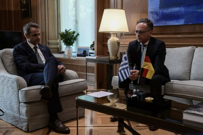 Μητσοτάκης - Μάας: Έστειλαν μήνυμα προς την Τουρκία να αποσύρει το Oruc Reis από το Καστελόριζο