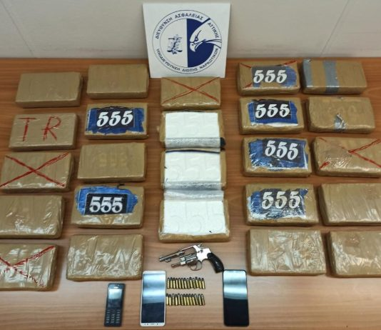 Η Δίωξη Ναρκωτικών εντόπισε κοκαΐνη αξίας 1,2 εκατ. ευρώ