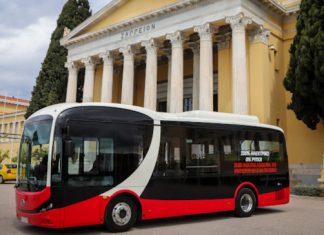 Το πρώτο ηλεκτροκίνητο λεωφορείο στους δρόμους της Αθήνας