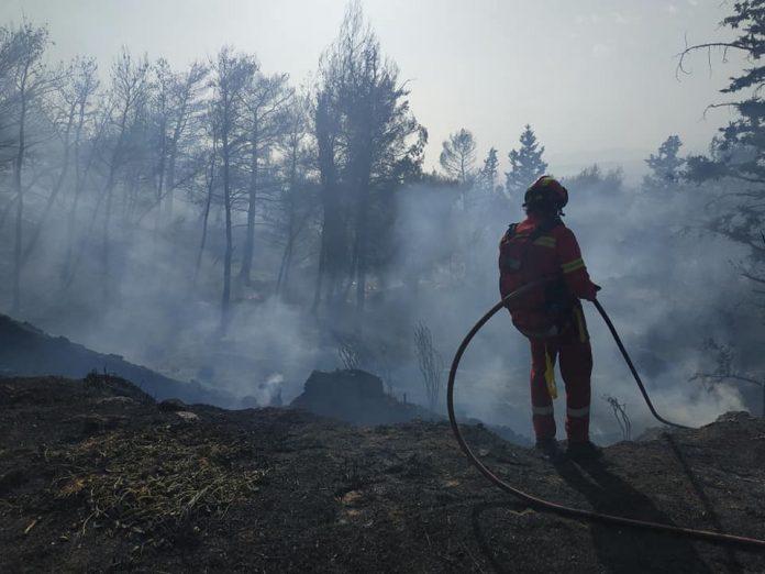 Υπό μερικό έλεγχο η πυρκαγιά στο Βύρωνα