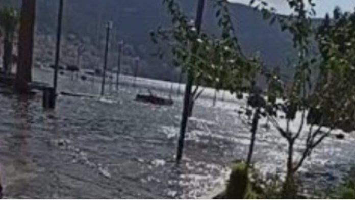 Σάμος - σεισμός: Η στιγμή που η θάλασσα βγαίνει στη στεριά